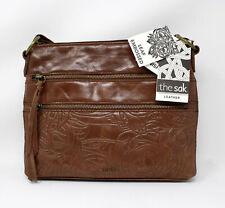 The Sak Reseda Crossbody Leather Teak Leaf