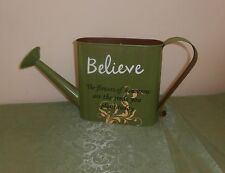 Watering Can Wall Pocket, Shelf Sitter with Sentimental Saying, Believe