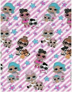 NEW Kids Girls Official LOL L.O.L. Surprise Character Soft Fleece Blanket Throw