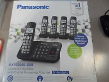 Panasonic KX-TG3645 B Cordless Telephone w/ Answering Machine-5 Handsets New