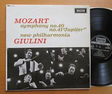 SXL 6225 Mozart Symphony no. 40 & 41 Giulini New Philharmonia EXCELLENT Decca LP