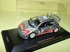 PEUGEOT 206 WRC RALLYE DE D'AUSTRALIE 2001 GRONHOLM IXO RAM046 1:43
