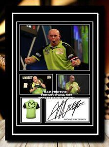 (61) michael van gerwen darts signed photograph unframed/framed reprint @@@@@@