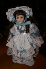 House of Lloyd 1991 Doll Beautiful Dress,Hat On Doll Stand Taiwan
