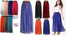 Chiffon Full Length Maxi Skirts for Women