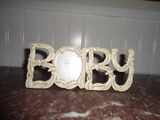 "This Baby Sentiment Frame from Elsa L. spells ""BABY"" ~ Too Adorable"