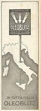 Y2831 OLEOBLITZ in tutta Italia - Pubblicità del 1923 - Old advertising