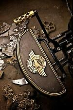 Harley Floorboards Moon W/ Logo Brass