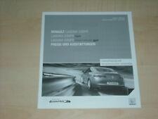 32870) Renault Laguna Coupe Preise Extras Prospekt 2010