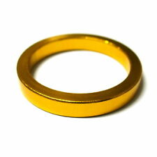 """gobike88 MR CONTROL Alloy 3mm Thick Headset Spacer 5mm, 1-1/8"""", 5g, Gold, L41"""