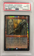 Magic the Gathering SWORD OF BODY & MIND Kaladesh Inventions Foil PSA 10 GEM MT