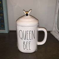 New RAE DUNN Artisan Collection LL QUEEN BEE Mug W/ Beehive Topper By Magenta