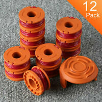 12 Pack WORX WA0010 Replacement Spool Line For Grass Trimmer Edger WG150-175