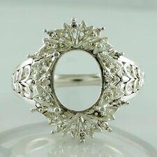 Oval Shape Semi Mount 9x11 MM Ring 925 Sterling Silver f/s Setting Woman Jewelry