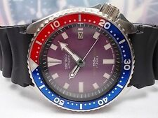 SEIKO 150M SCUBA DATE AUTOMATIC MEN'S WATCH 7002-700J, PURPLE/PEPSI