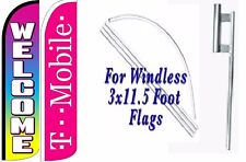 T Mobile Welcome Windless Swooper Flag With Complete Kit Pack of 2