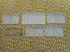FOOTBALL TICKETS SHEFFIELD WEDNESDAY 1997 AND 1999 PREMIERSHIP