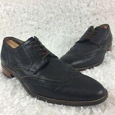 Cole Haan Grand OS Men's Size 12 M Black Leather Wingtip Brogue Oxfords C12227