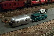 Pick up Truck with Cap and Camper N Scale vehicle GREEN