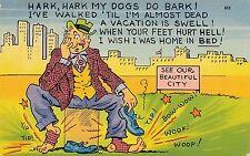 POSTCARD  COMIC  USA  Hark Hark my dogs do bark !.....