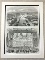 Palace of Versailles France Grand Trianon Marie Antoinette Genuine Antique Print