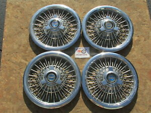 "1965, 1966 FORD MUSTANG, GALAXIE 500 15"" ~SPINNER~ WHEEL COVERS, HUBCAPS, ~RARE~"
