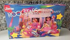 1986#Mattel Rare Barbie Rock Stars#Rockin' House Party Salon Sealed Box