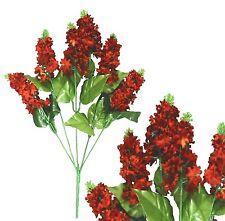 "Lot of 120 Flame Rust Poly Silk 14"" Lilacs Wedding Home Decor Craft Silk Flower"