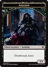 MTG Magic - (T) Conspiracy: Take the Crown - 1/1 Black Assassin Token - NM/M