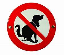 Emaille Hinweis Schild Kein Hundeklo Hundetoilette Warnschild Ø 15 cm Blech Neu
