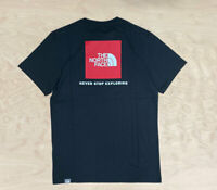 The North Face Red Box T Shirt Black Red Short Sleeve Mens