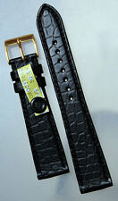 19mm flat Band Louisiana ALLIGATOR Crocodile Graf Germany CROCO FineGrain Strap