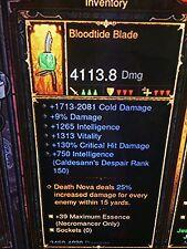Diablo 3 Necromancer ancien bloodtide Lame patch 2.6 deux mains Scythe XBOX 1