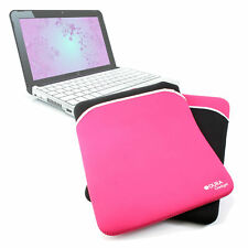 High Quality Black & Pink Reversible Neoprene Pouch/Case For HP Mini 110 Laptop