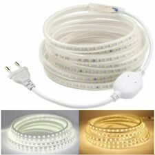 LED Strip 220V 240V ip68 Waterproof 2835 SMD Rope Garden Decking Kitchen Lights
