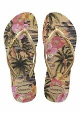 Havaianas Slim Women Tropical Blue Green Rose Black Ivory Flip Flops All Sizes
