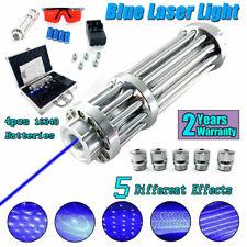 New Blue Visible Beam Light High Power Laser Pointer W/ 4×16340 Batteries+Box Us