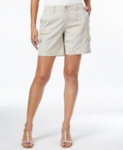 Style & Co Women Comfort-Waist Cargo Shorts Zip Button Plus Size  NEW $39