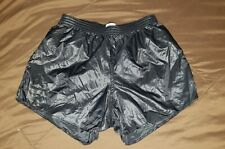 Soffe Wetlook Soccer Athletic Shiny Shorts XL, Nylon Satin Running Glanz