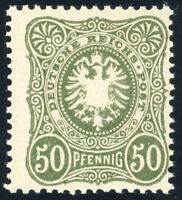 DR 1887, MiNr. 44 II b, tadellos postfrisch, gepr. Wiegand, Mi. 100,--