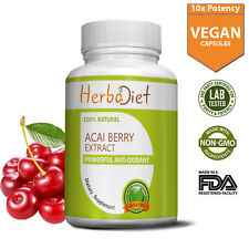Super Acai Berry Extract 10:1 500mg Capsules For Weight Loss Antioxidant Energy