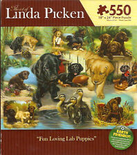 Labrador Retriever Fun Loving Lab Puppies Puzzle 550 pieces Made in USA