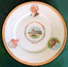 Antique George and Martha Washington Mount Vernon & Capitol Building Plate Ohme