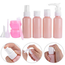 9pcs/set Universal Outdoor Travel Plastic Small Plastic Cosmetic Empty Bottle FE