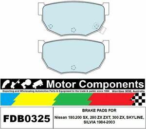 BRAKE PADS FDB0325M TO SUIT Nissan 180.200 SX, 280 ZX ZXT, 300 ZX, SKYLINE, SILV
