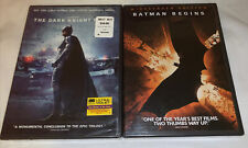 Lot Of 2 DVDs Batman Begins/The Dark Knight Rises Action New Sealed