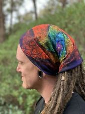 Psychedelic Dreadlock Headband dread sock wrap turban scarf sleep cap locs