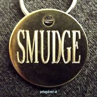 BRASS ID TAGS 25mm Horse Tack Bridle DOG/Cat Discs 2 for £4.99 CHEAPEST Engraved