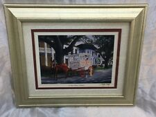 Cody Walsh Signed Framed Print Roman Candy Wagon New Orleans
