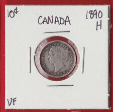 1890 H Canada 10 Cent Cent Coin Silver Dime 1011  VF